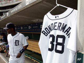 Tigers' tribute to Jeremy Bonderman is a little weird, no?