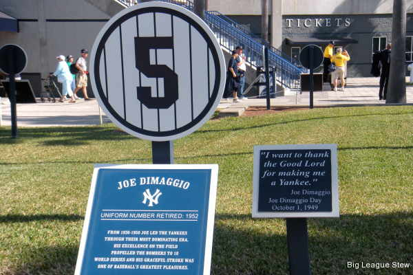 Even the Yankees spring training site has a Monument Park