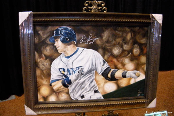 The majesty of Evan Longoria, now available in oil-based paint!