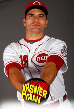 Answer Man: Joey Votto talks bowling, mustaches, hockey, Italy