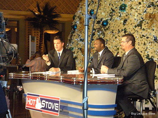 Photo: 'Wild Thing' and MLB Network crew stoke hot stove flames