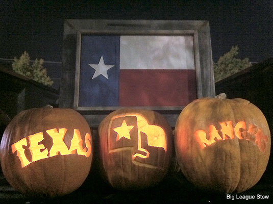 Photo: Rangers and Giants pumpkins are bountiful this Halloween
