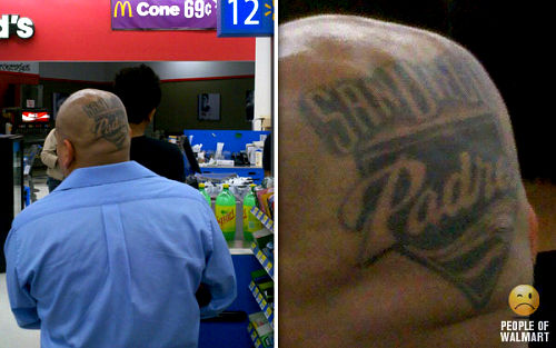Photo: Scalp tattoo turns man into walking billboard for Padres