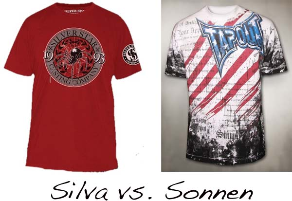 MMA Marketplace: Battle of middleweight walkout shirts