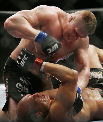 Was Lesnar's finish bad for the UFC?