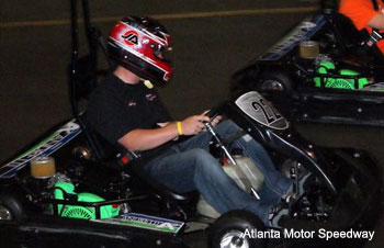 Justin Allgaier and Jason Leffler stomped me in go-karting