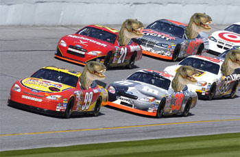 'We're not saying Kyle Busch should be fed to a velociraptor...'