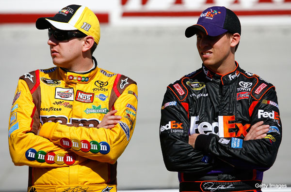 Denny Hamlin, Kyle Busch, Joey Logano loving life right now