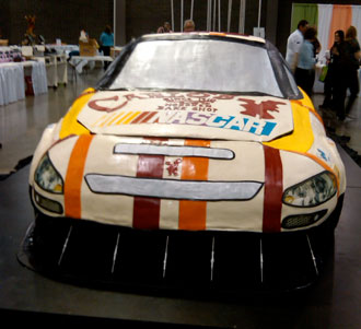 Building a life-size Sprint Cup car cake? Easy as pie