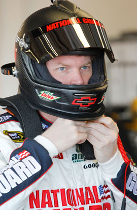 Conspiracy talk, launch! Dale Jr. wins the Bud Shootout pole