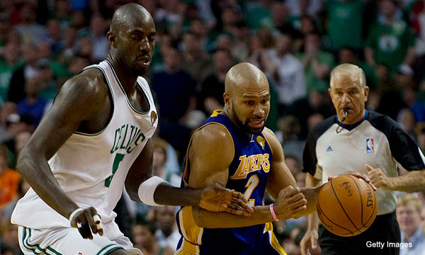 Before he broke down, Derek Fisher broke the Celtics' heart