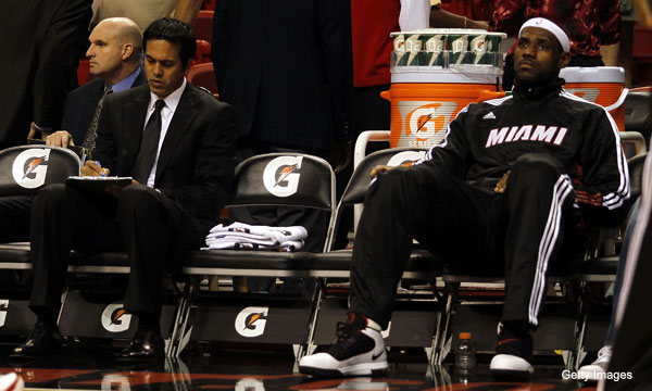 Relationship between LeBron and coach gets chillier, not chill