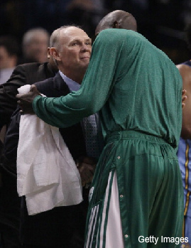 Kevin Garnett tells George Karl he loves cancer patients