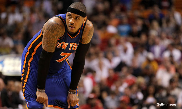 Big Z pitches real estate to Carmelo Anthony from the bench