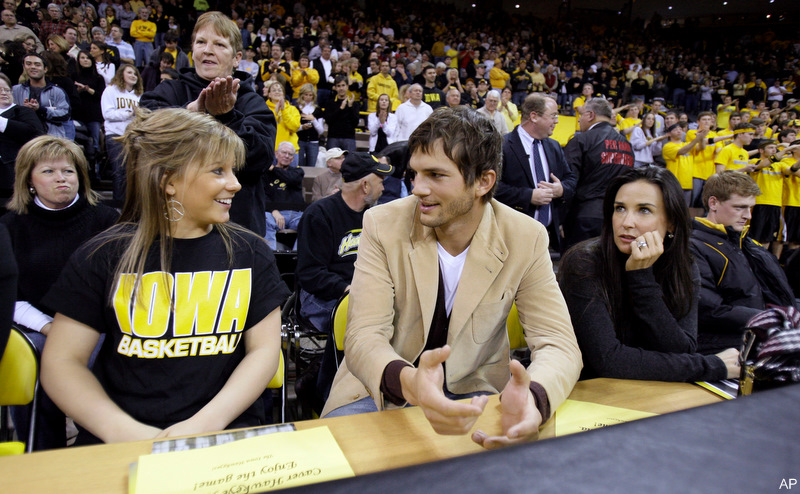 Iowa admits to possible NCAA violation involving Ashton Kutcher