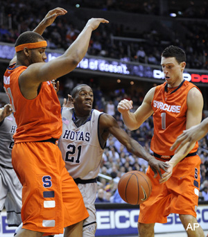 Syracuse avoids epic collapse against rival Georgetown