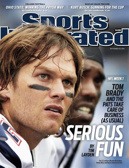 Brady on 12th SI cover, ties Montana for most-ever by NFL player
