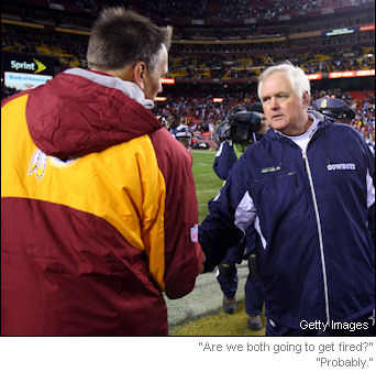 Jim Zorn can't get a vote of confidence, but Wade Phillips can