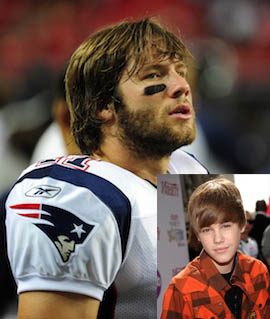Brady claims teammate seems similar to Justin Bieber as compared to this individual can. ept_sports_nfl_experts-992085955-1288279330