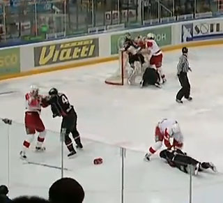 KHL line brawl aftermath: Big suspensions, pathetic fines
