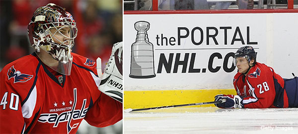 Chatting with Alexander Semin and Simeon Varlamov about rallying Capitals, handling Sean Avery in Rangers' series