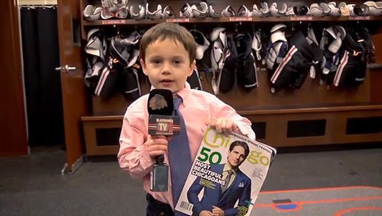 Video: Joey, Jr. Blackhawks Reporter, talks girls, 'beautiful' Sharp