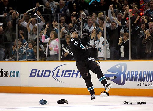 Thursday's Three Stars: Heatley's trick boosts Sharks