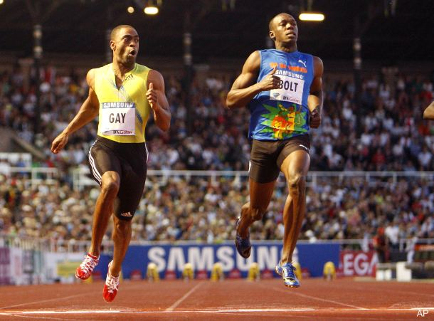 Game on, Usain: Gay shocks Bolt in Stockholm