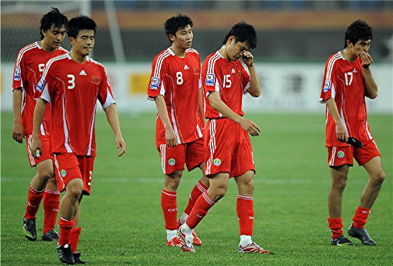 Chinese soccer team makes American soccer team look good