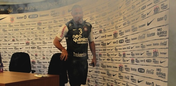 Fat Ronaldo ends press conference with smoke bombs
