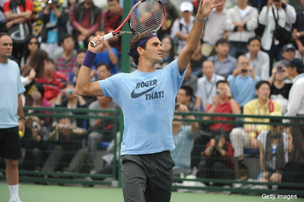 Picture of the day: Roger Federer's self-referencing T-shirt