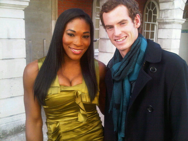 Serena Williams and Andy Murray take in Burberry fashion show