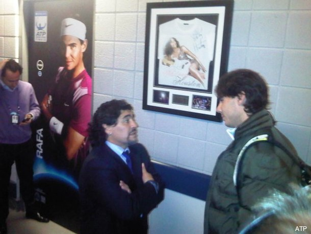 Picture of the Day: Diego Maradona chats with Rafael Nadal