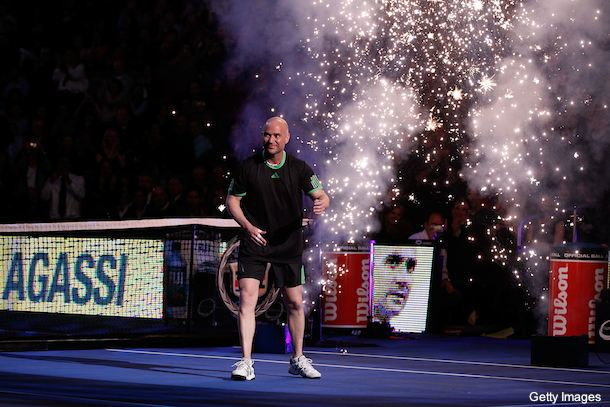 Caption contest: Andre Agassi, malfunctioning robot