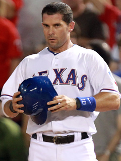 Michael Young played 13 seasons for the Rangers, who traded him to the Philles.