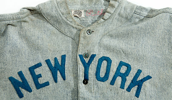 Babe Ruth's circa 1920 New York Yankees' jersey is predicted to sell for a record sum