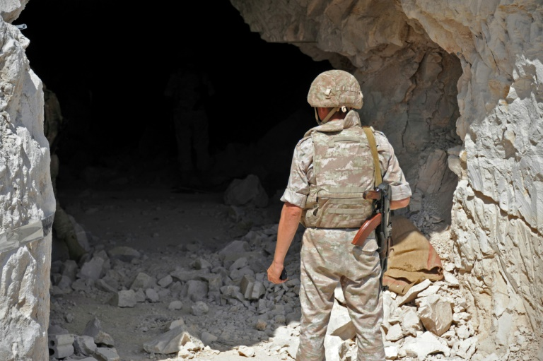 In Syria, a vast underground hideout housed rebel base