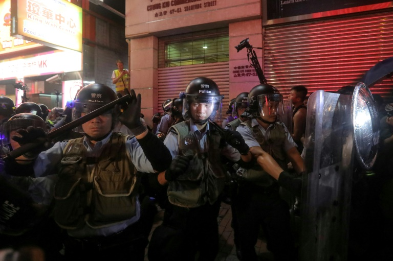 Fresh clashes in Hong Kong after huge march to China station