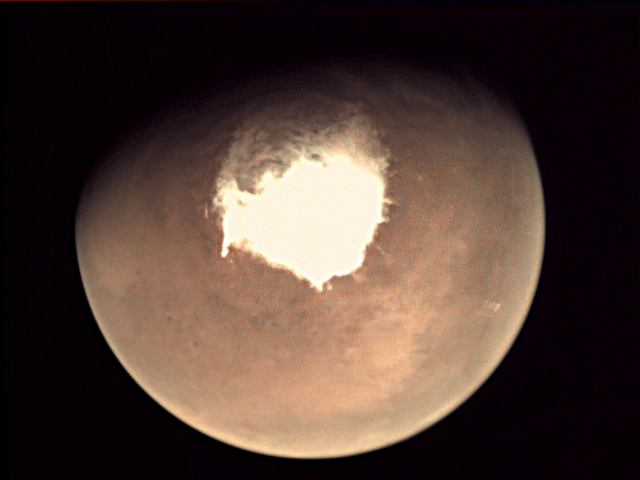 A Martian methane belch melts away