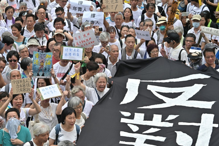 Hong Kongs grey hairs march to support youth protesters