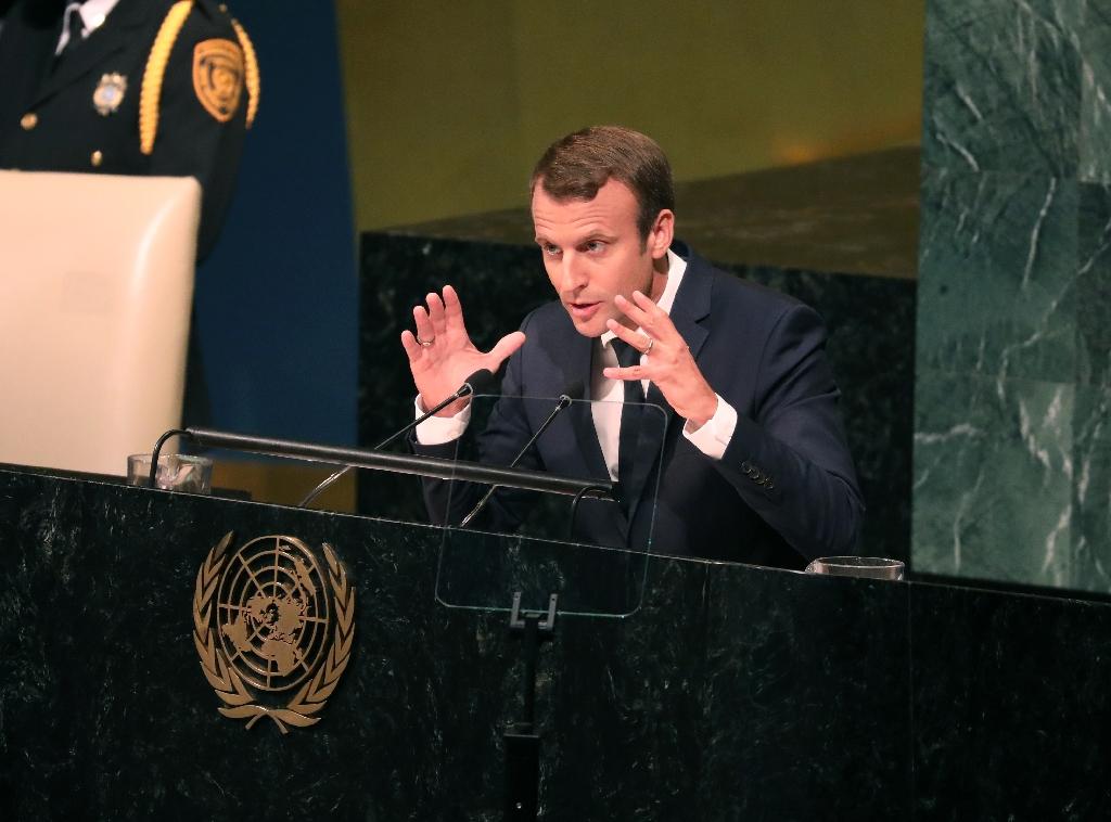 France's Macron at UN defends Iran, climate deals