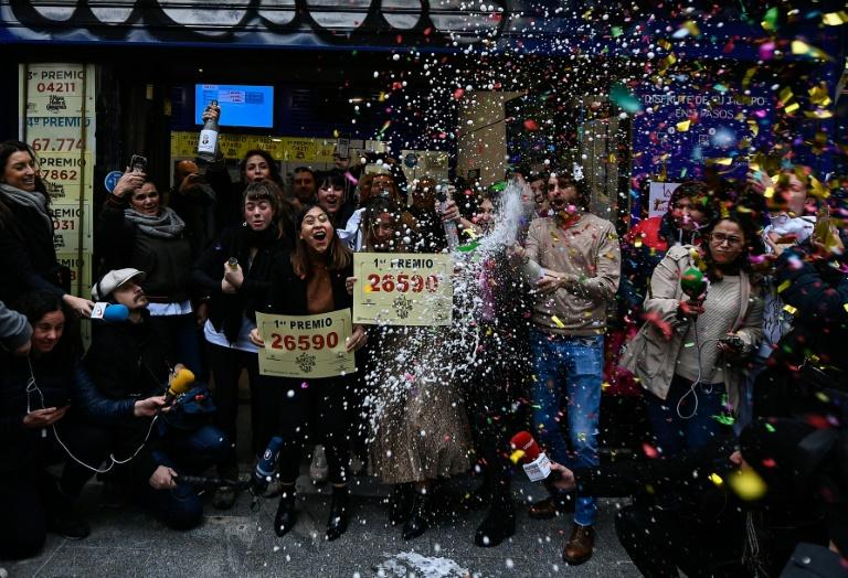 Winners of worlds richest lottery El Gordo celebrate