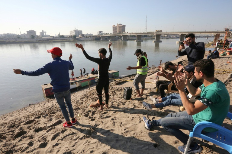Baghdads Tahrir Beach where the revolution takes a break