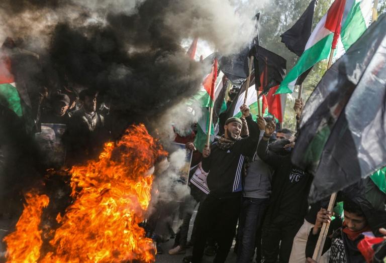 Palestinians mobilise against Trump peace plan