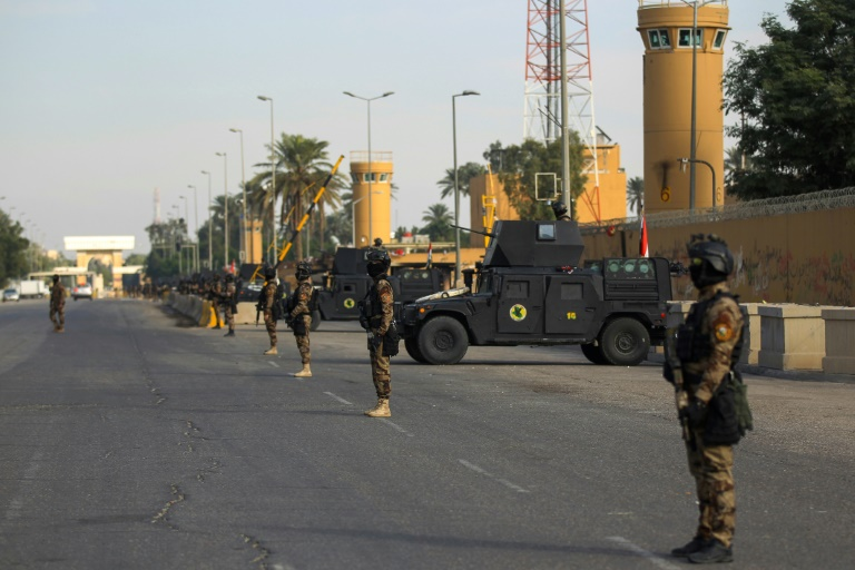 Elite Iraqi troops secure US embassy after attack