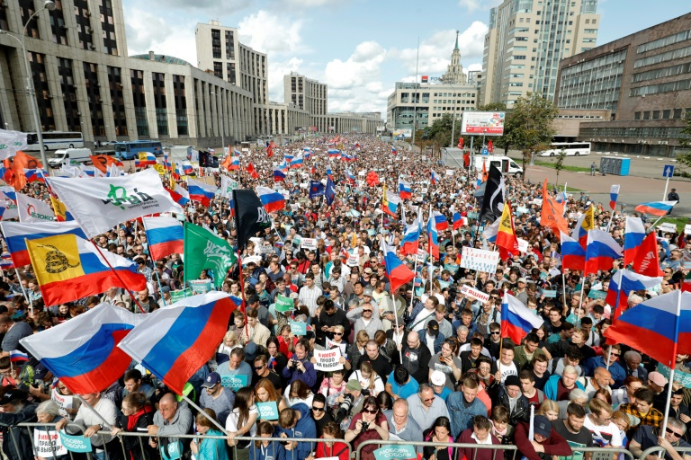 Over 20,000 rally in Moscow as election anger boils over