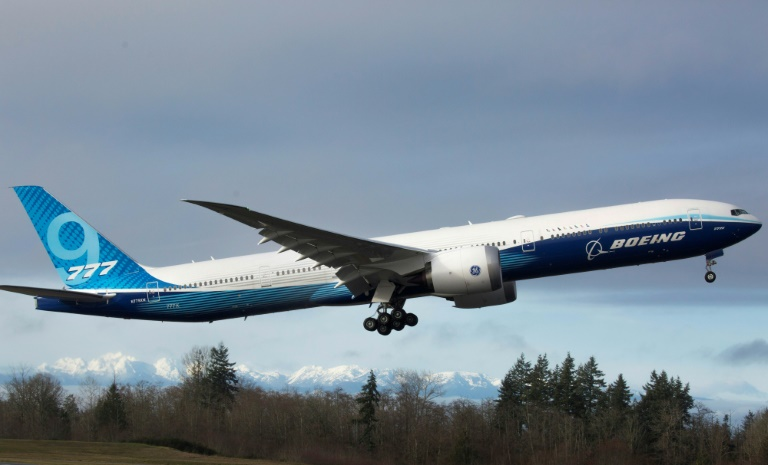 Boeings new 777X airliner takes off on first flight