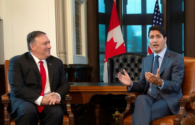 Pompeo meets Trudeau, says China detention of two Canadians wrong