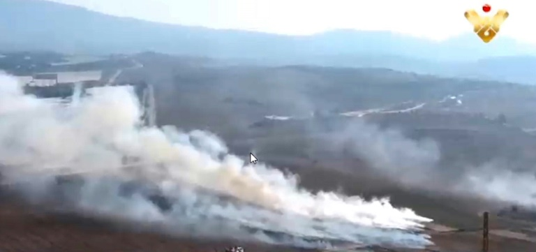 Hezbollah TV airs footage it says shows anti-Israel attack