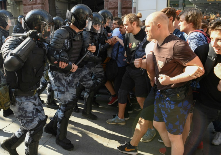 Moscow police arrest hundreds at rally for fair elections: monitor